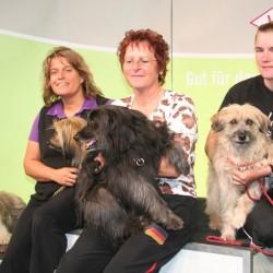 Nicole Büchner, Heidemarie Prell und Saskia Lindemann-Walter bei der VDH-Quali in Dortmund, Foto: C. Zenner